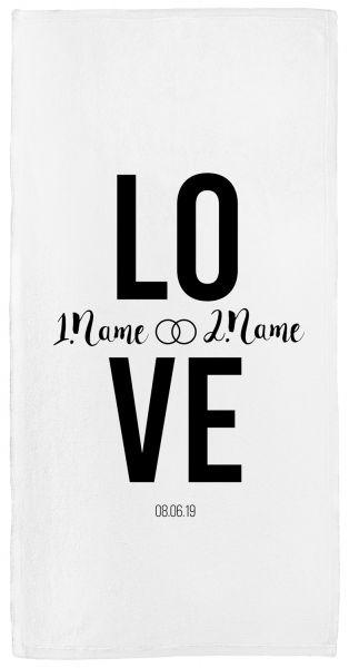 Love - Handtuch mit Namen