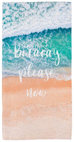 Beach please now - Handtuch mit Namen