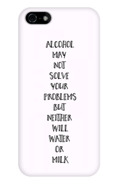 Apple iPhone 5/5S/SE 3D-Case (glossy) Gibilicious Design Alcohol may not solve problems von swook! - switch your look