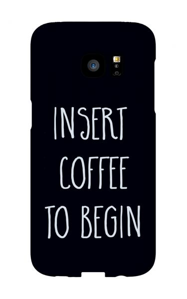 Samsung Galaxy S7 Edge 3D-Case (glossy) Gibilicious Design Insert coffee to begin von swook! - switch your look