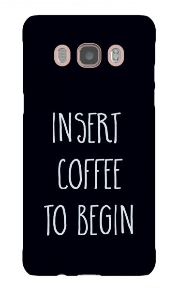 Samsung Galaxy J5 (2016) 3D-Case (glossy) Gibilicious Design Insert coffee to begin von swook! - switch your look