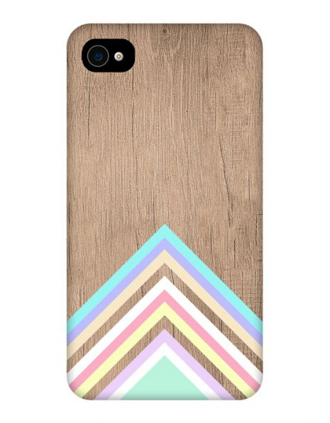 Apple iPhone 4/4s 3D-Case (glossy) Gibilicious Design Baby blue pattern on wood von swook! - switch your look