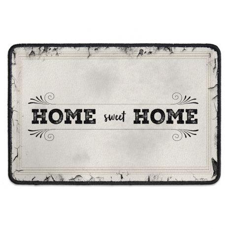 Türmatte mit Familiennamen - Home sweet home