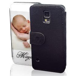 sideflip case schwarz passend f r samsung galaxy s5 mini. Black Bedroom Furniture Sets. Home Design Ideas
