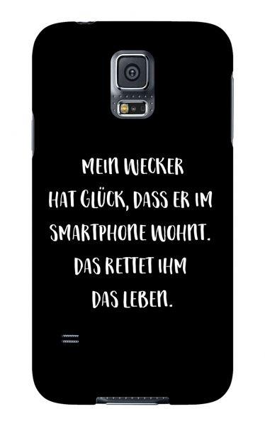 Samsung Galaxy S5 3D-Case (glossy) Gibilicious Design Mein Wecker hat Glueck von swook! - switch your look