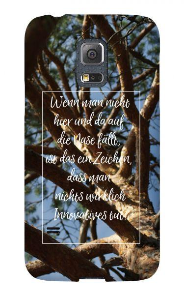 Samsung Galaxy S5 Mini 3D-Case (glossy) Gibilicious Design Auf Nase fallen von swook! - switch your look