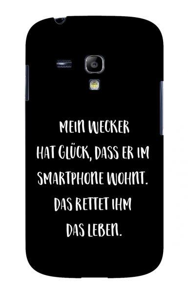 Samsung S3 Mini (i8190) 3D-Case (glossy) Gibilicious Design Mein Wecker hat Glueck von swook! - switch your look
