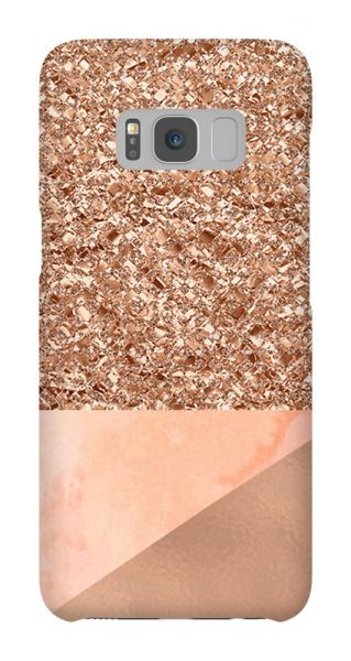 Samsung Galaxy S8  3D-Case (glossy) Gibilicious Design Coral Glitter von swook! - switch your look