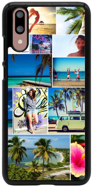 2D-Case (schwarz) passend für Huawei P20, Selbst gestalten