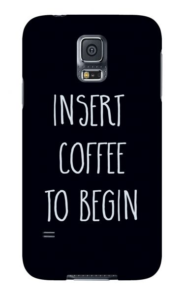 Samsung Galaxy S5 3D-Case (glossy) Gibilicious Design Insert coffee to begin von swook! - switch your look