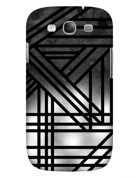 Samsung Galaxy S3 (i9300) 3D-Case (glossy) Gibilicious Design Grey smoke with black lines von swook! - switch your look