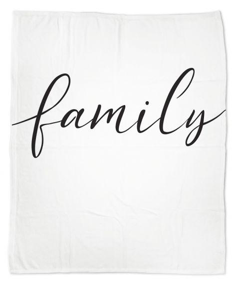 Family Typo - Kuscheldecke mit Namen
