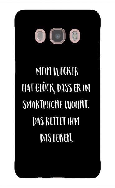 Samsung Galaxy J5 (2016) 3D-Case (glossy) Gibilicious Design Mein Wecker hat Glueck von swook! - switch your look