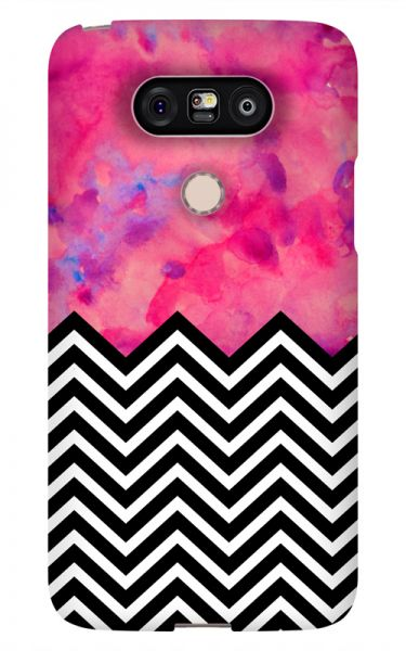 LG G5 3D-Case (glossy) black and white and PINK von swook! - switch your look