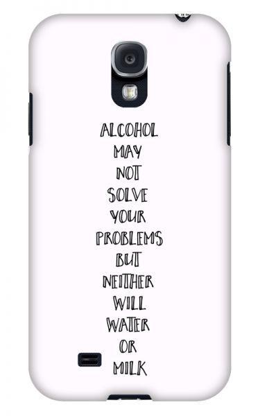 Samsung Galaxy S4 3D-Case (glossy) Gibilicious Design Alcohol may not solve problems von swook! - switch your look