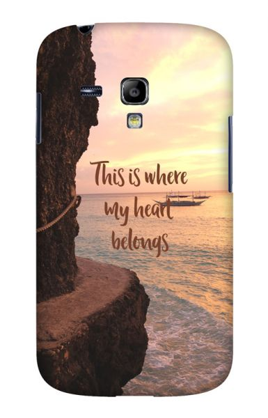 Samsung S3 Mini (i8190) 3D-Case (glossy) Gibilicious Design Where my heart belongs von swook! - switch your look