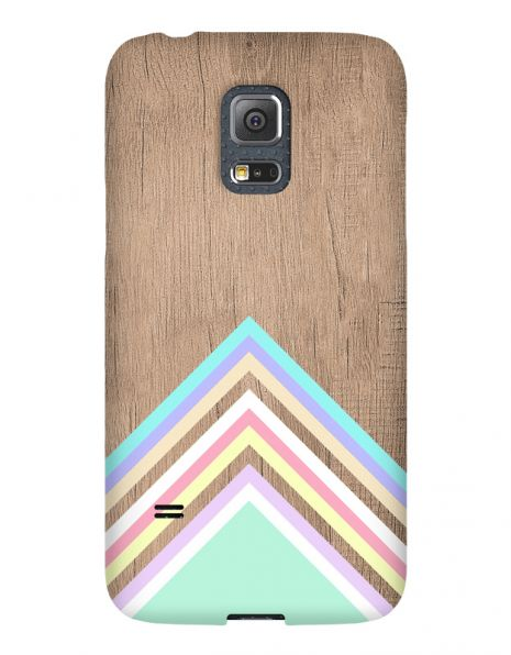 Samsung Galaxy S5 Mini 3D-Case (glossy) Gibilicious Design Baby blue pattern on wood von swook! - switch your look