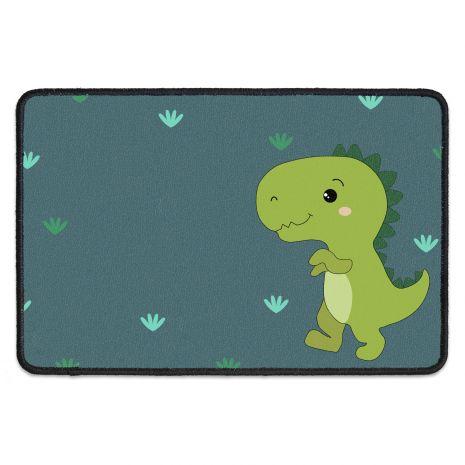 Kinder Fußmatte mit eigenem Text - Dino