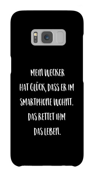 Samsung Galaxy S8  3D-Case (glossy) Gibilicious Design Mein Wecker hat Glueck von swook! - switch your look