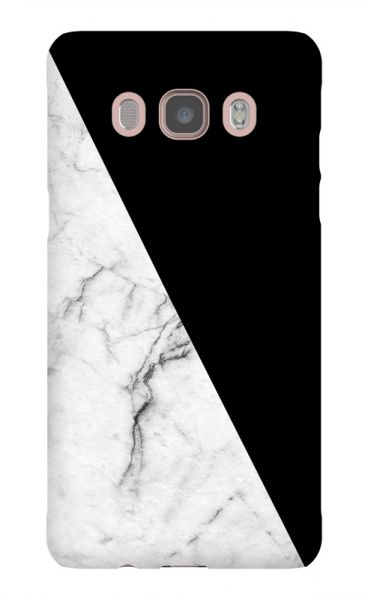 Black with white marble