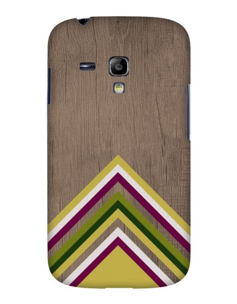 Samsung S3 Mini (i8190) 3D-Case (glossy) Gibilicious Design Yellow pattern wood von swook! - switch your look
