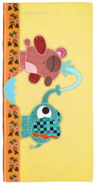 Handtuch Bär und Elefant