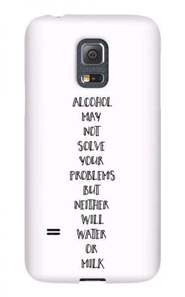 Samsung Galaxy S5 Mini 3D-Case (glossy) Gibilicious Design Alcohol may not solve problems von swook! - switch your look