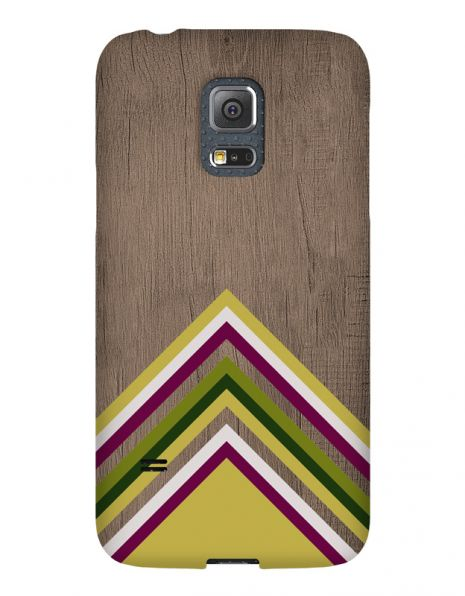 Samsung Galaxy S5 Mini 3D-Case (glossy) Gibilicious Design Yellow pattern wood von swook! - switch your look