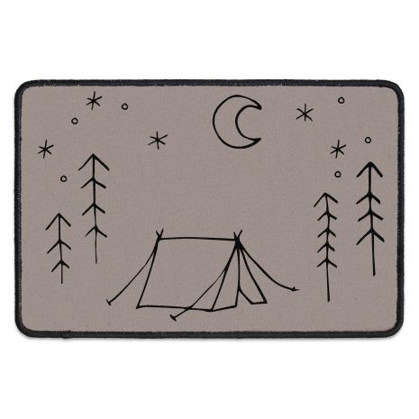 Fussmatte mit Namen - Tent