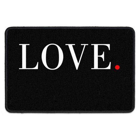 Fußmatte für Paare - mit Namen und Datum - Love schlicht