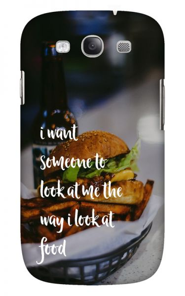 Samsung Galaxy S3 (i9300) 3D-Case (glossy) Gibilicious Design The way I look at food von swook! - switch your look