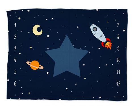 Reach for the stars - Babydecke mit Namen