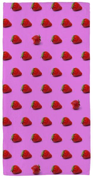 Erdbeere - Handtuch mit Namen