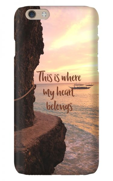 Apple iPhone 6 3D-Case (glossy) Gibilicious Design Where my heart belongs von swook! - switch your look