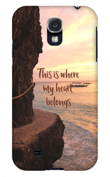 Samsung Galaxy S4 3D-Case (glossy) Gibilicious Design Where my heart belongs von swook! - switch your look