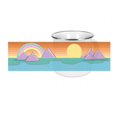 Adventure sundown - Emaille-Tasse (300 ml)