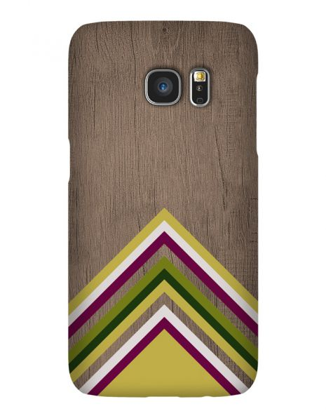 Samsung Galaxy S7 Edge 3D-Case (glossy) Gibilicious Design Yellow pattern wood von swook! - switch your look