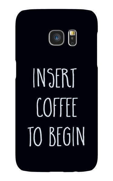 Samsung Galaxy S7 3D-Case (glossy) Gibilicious Design Insert coffee to begin von swook! - switch your look