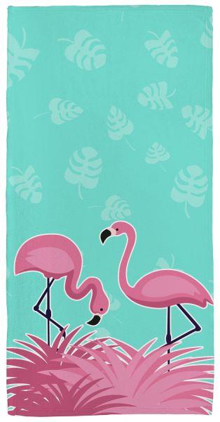 Flamingo - Handtuch mit Namen