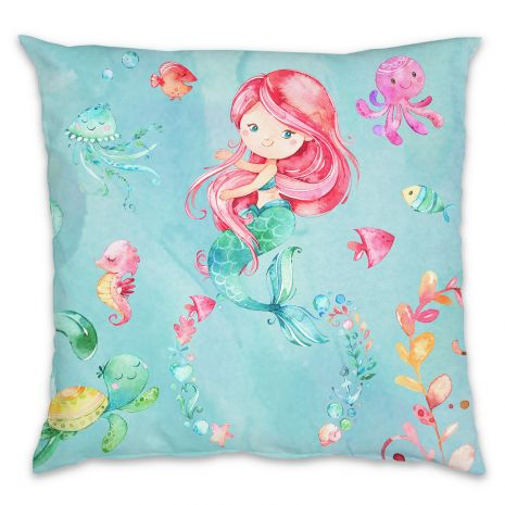 Meerjungfrau - Kissen mit Namen