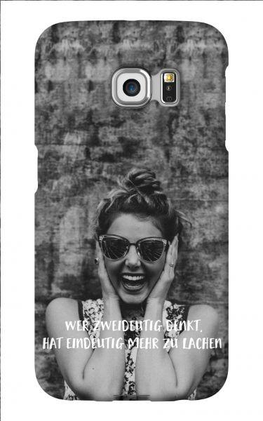 Samsung Galaxy S6 Edge 3D-Case (glossy) Gibilicious Design Wer zweideutig denkt von swook! - switch your look