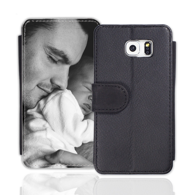 sideflip case schwarz passend f r samsung galaxy s7 edge. Black Bedroom Furniture Sets. Home Design Ideas