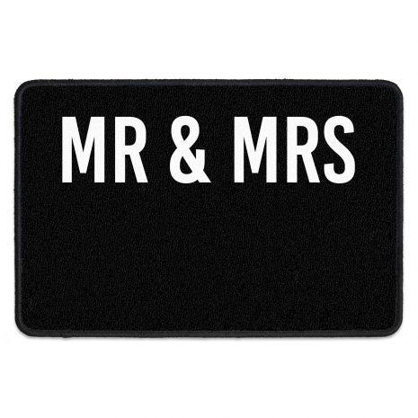 Personalisierbarer Fußabtreter mit drei Zeilen - Mr&Mrs