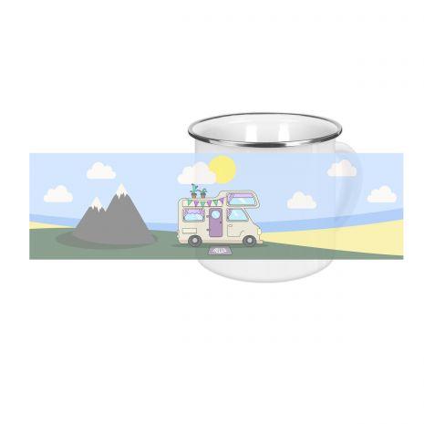 Wohnmobil - Emaille-Tasse (300 ml)