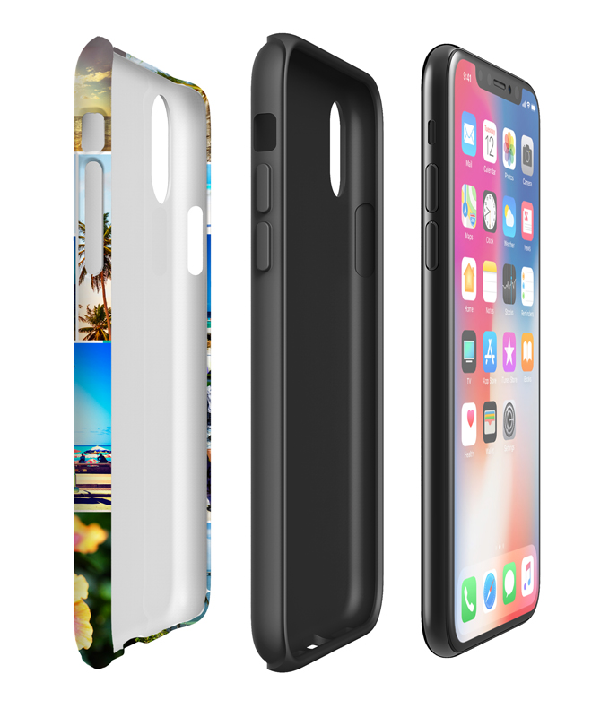 tough case glossy passend f r apple iphone x selbst. Black Bedroom Furniture Sets. Home Design Ideas