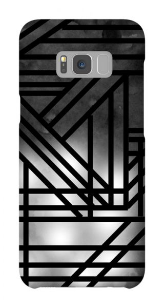 Samsung Galaxy S8 Plus 3D-Case (glossy) Gibilicious Design Grey smoke with black lines von swook! - switch your look