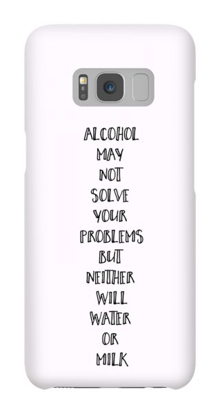 Samsung Galaxy S8  3D-Case (glossy) Gibilicious Design Alcohol may not solve problems von swook! - switch your look