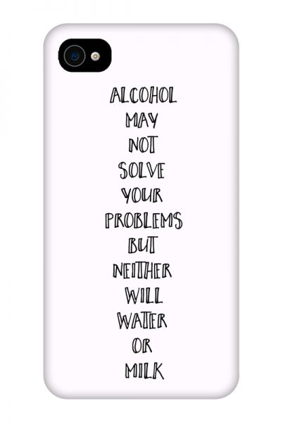 Apple iPhone 4/4s 3D-Case (glossy) Gibilicious Design Alcohol may not solve problems von swook! - switch your look