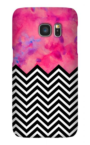 Samsung Galaxy S7 3D-Case (glossy) black and white and PINK von swook! - switch your look