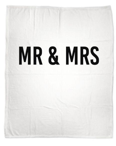 Mr & Mrs (+Text) - Kuscheldecke mit Namen